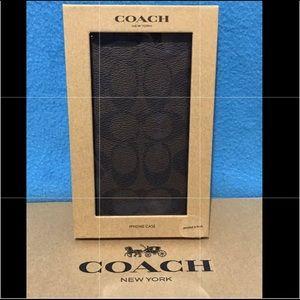 Coach Signature Coated Canvas Phone Case
